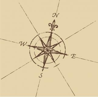 Drawn compass fleur de lis My lis this on de