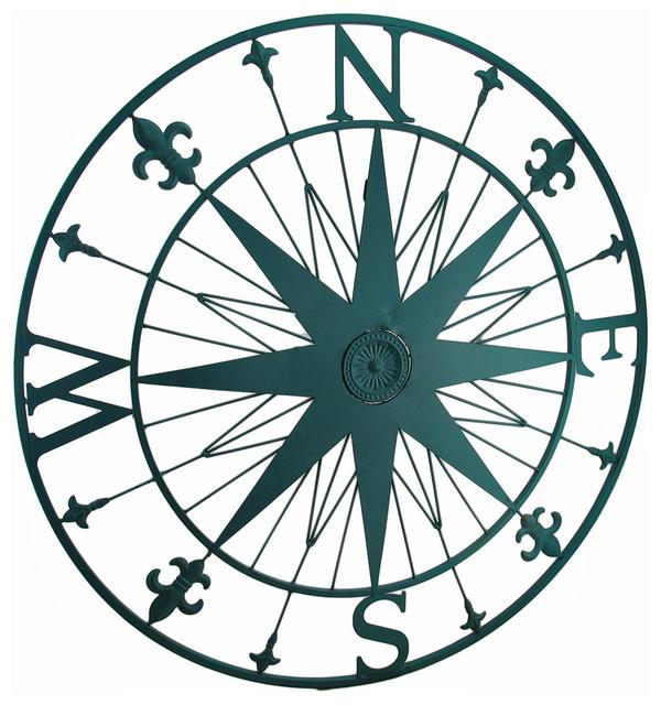 Drawn compass fleur de lis Lis style Finish Fleur Lis