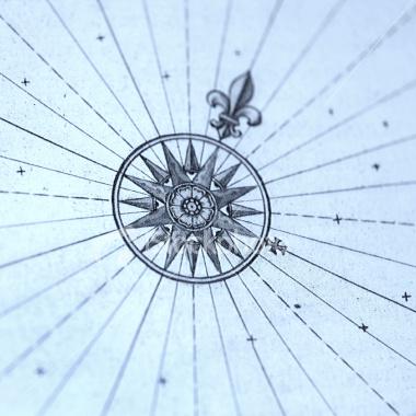 Drawn compass fleur de lis Lis Ship fleur Surgery Ideas