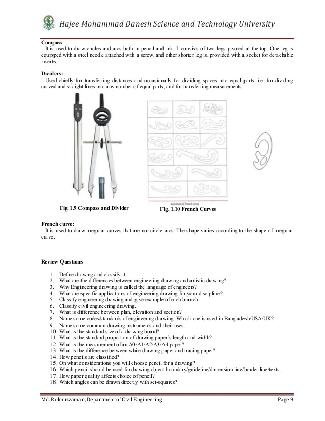 Drawn compass french Beginners Scales; Engineering 8 15