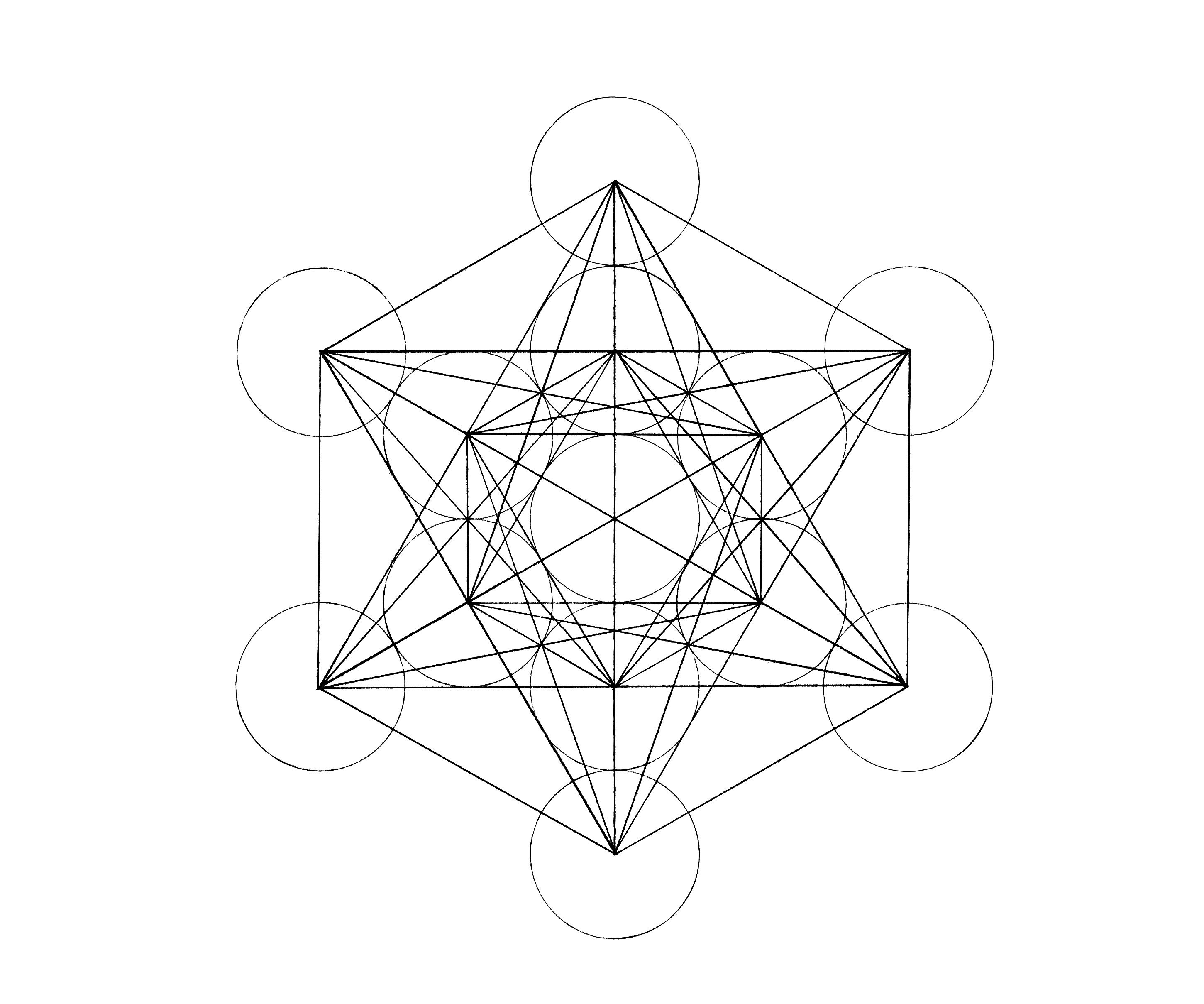 Drawn compass geometry Cube: Metatron's Draw Marriage it…