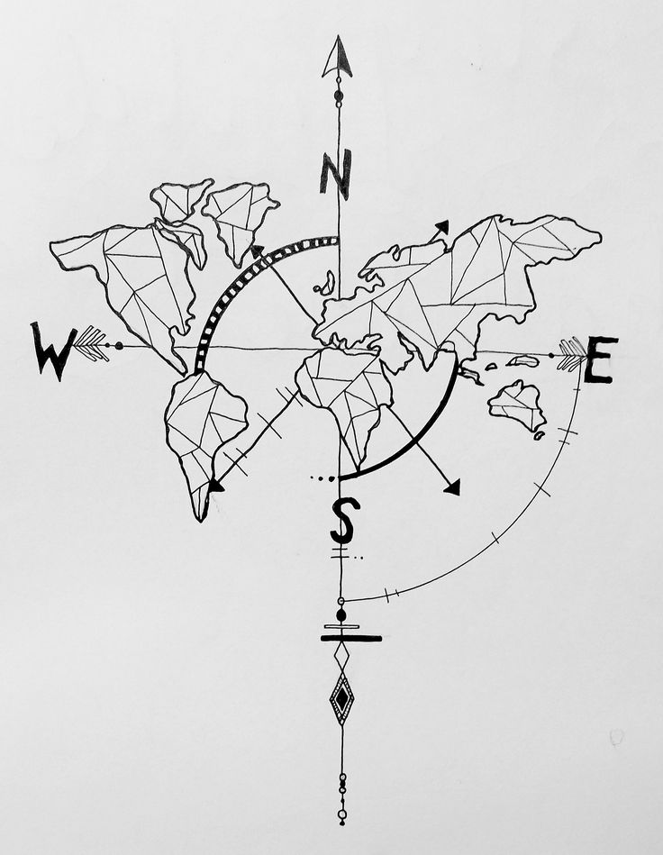 Drawn compass geometry Map geometric nautical Compass ideas
