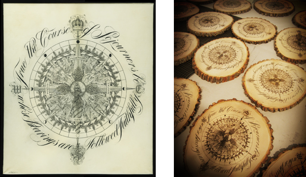 Drawn compass intricate Compass Compass able and had