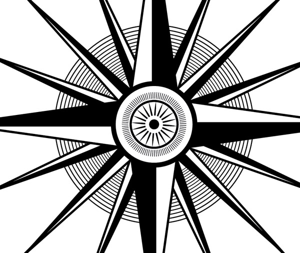 Drawn compass intricate Ornate in To How an