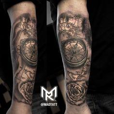 Drawn compass italian Compass Compass art & Anchor