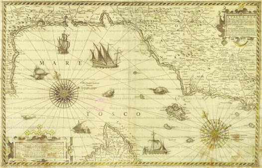 Drawn compass italian MAP The KOUZLO Italian STARÝCH