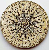 Drawn compass italian The implement It headings cartographers