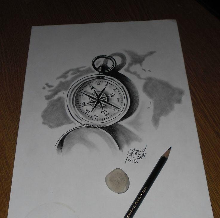 Drawn compass japanese Tattoos for by on bLazeovsKy