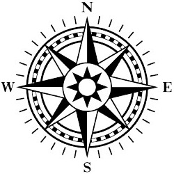 Drawn compass line drawing Compass Simple Draw  A