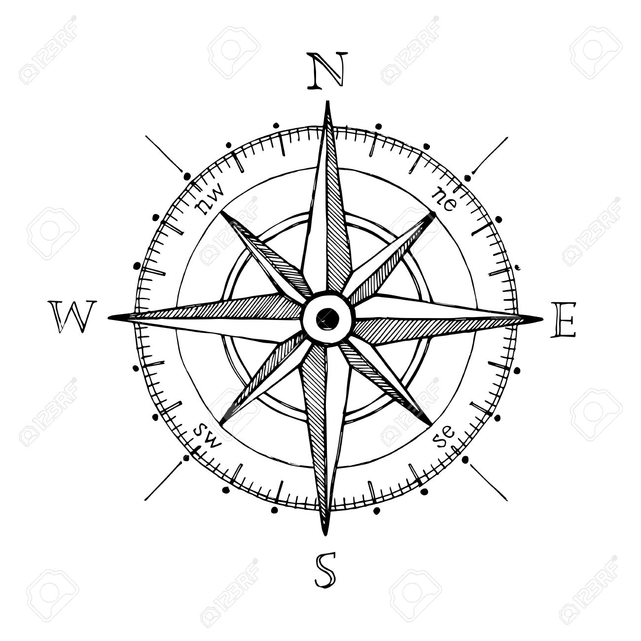 Drawn compass line drawing Compass Google Pinterest design Search