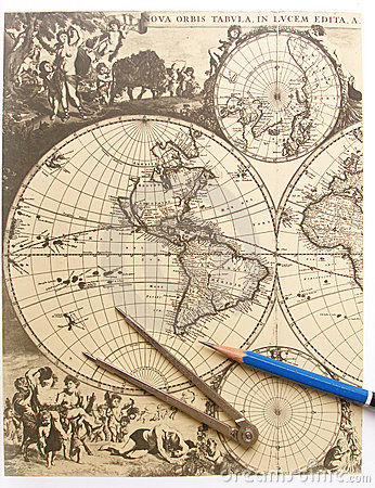 Drawn compass naval World image  drawing antique