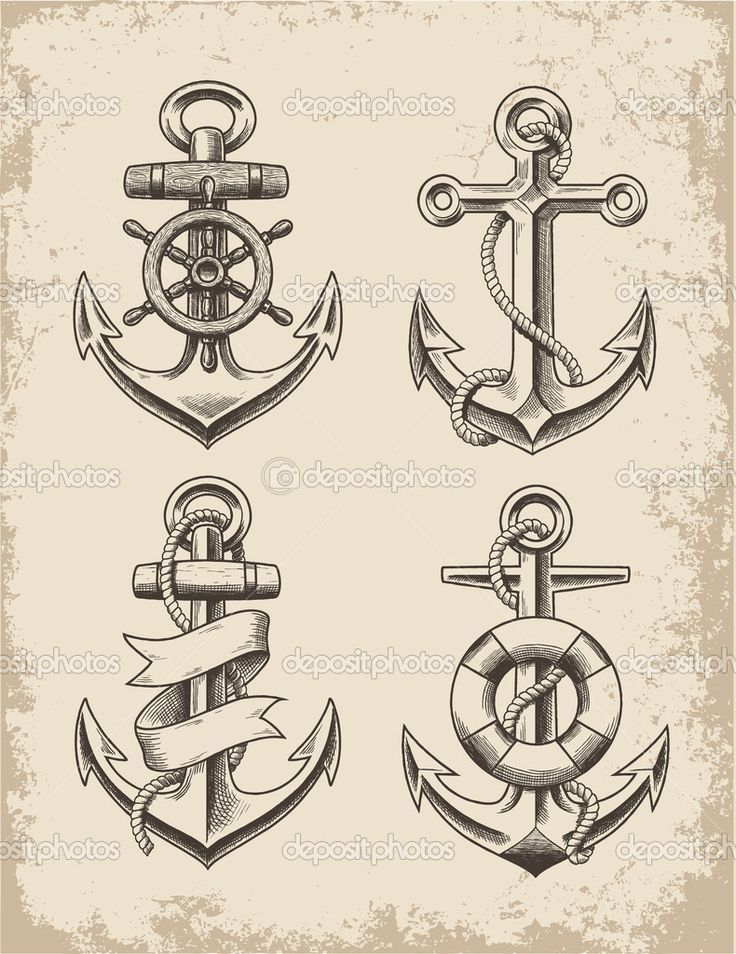 Drawn anchor navy anchor 20+ Pin compass desenhos tattoo