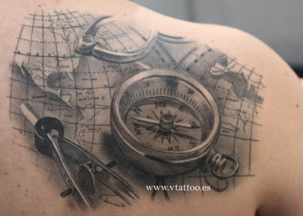 Drawn compass naval Design Designs  Tattoo 100