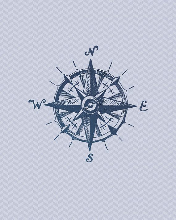 Drawn compass naval Bespoke Set  Nautical Hands