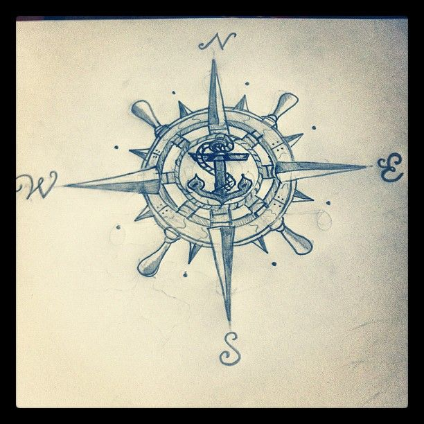 Drawn compass naval Best Talent 20+ Anchor on