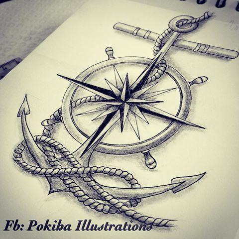 Drawn compass naval On compass Pinterest sailor Image