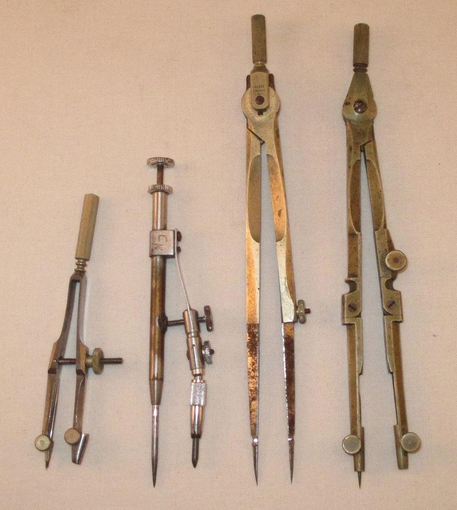 Drawn compass naval Antique Drawing /Vintage Navigation Charvos