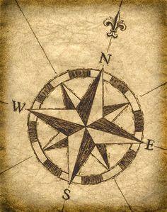 Drawn compass navigational Pinterest Best drawing Compass Compass