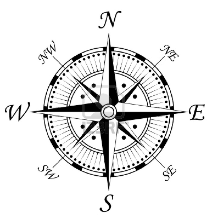 Drawn compass navigational  is many on turn