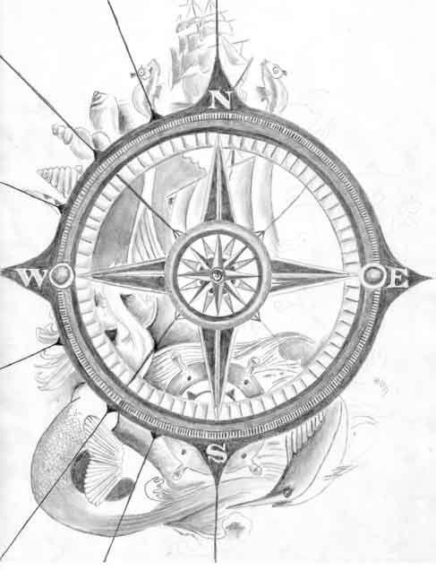 Drawn compass navigational For Compass Tattoos DrawingCompass com/pics/