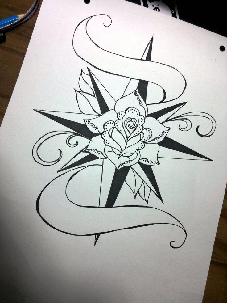 Drawn compass old school @deviantART best on 190 Rose