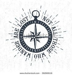 Drawn compass old world Wind on and compass vector