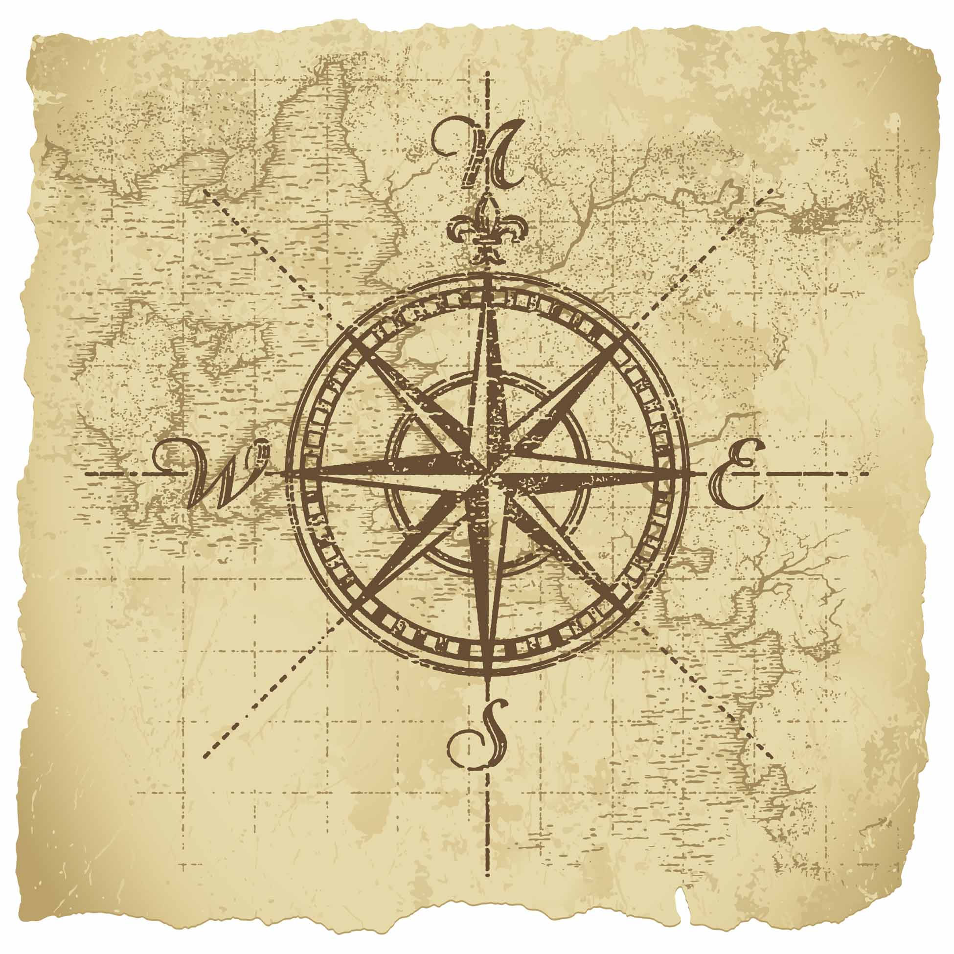 Drawn compass old world  Google Tattoo Pinterest Search