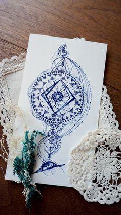 Drawn compass roman Alchemy · Roman Arrow Moon