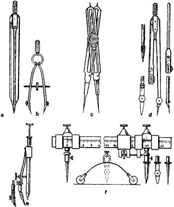 Drawn compass roman Compasses: about (b) divider balerinka