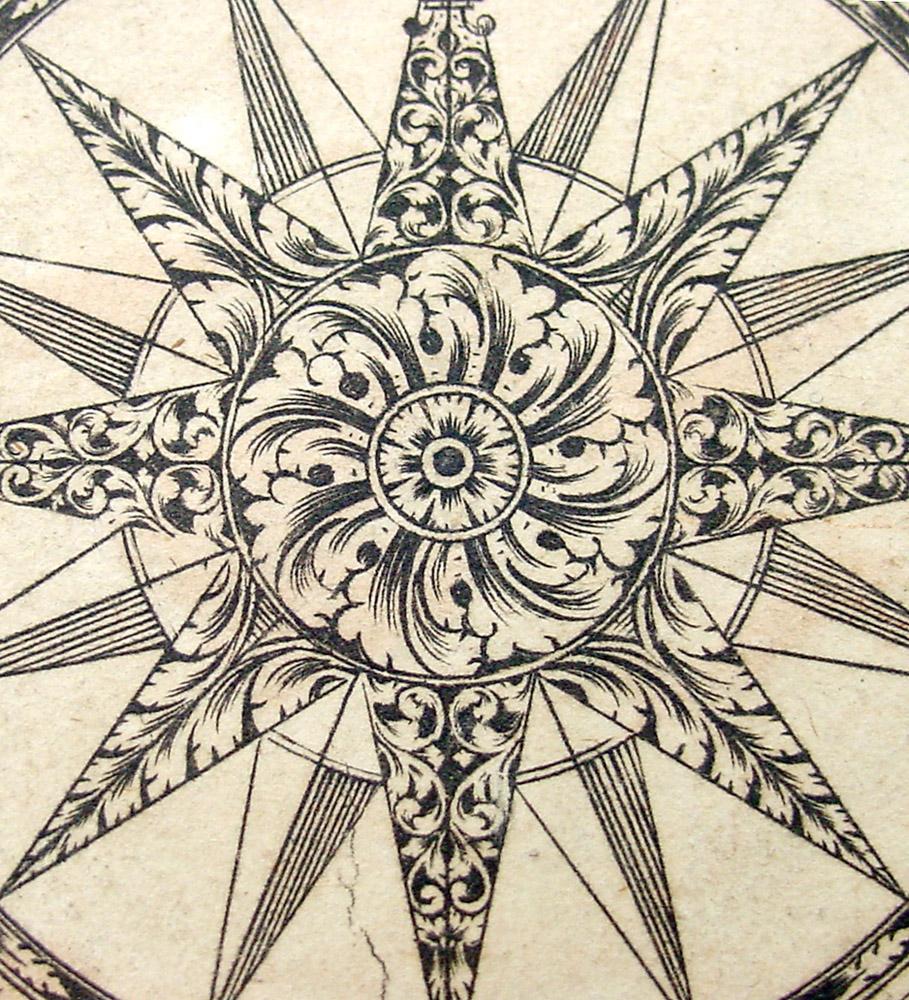 Drawn compass roman Antique Google rose maps Google