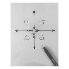 Drawn compass simple Google simple voor Tattooed simple