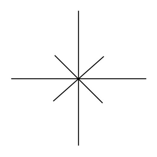 Drawn compass simple Rose legs two more six