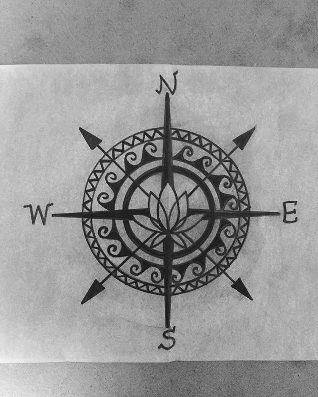 Drawn compass simple black  drawing Best Pinterest on