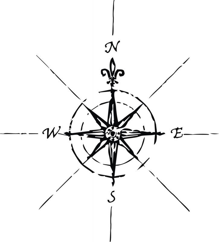 Drawn compass simple black Best and Compass the tattoos