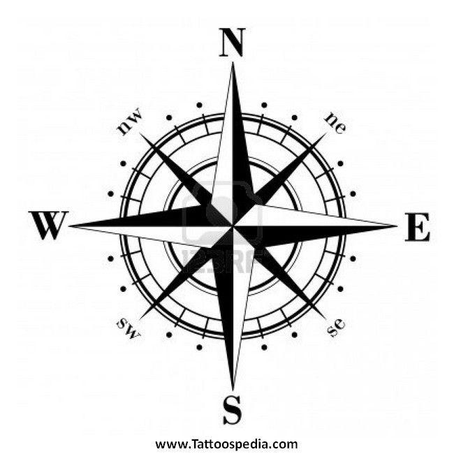 Drawn compass simple black Compasses Search Pinterest on shoulder