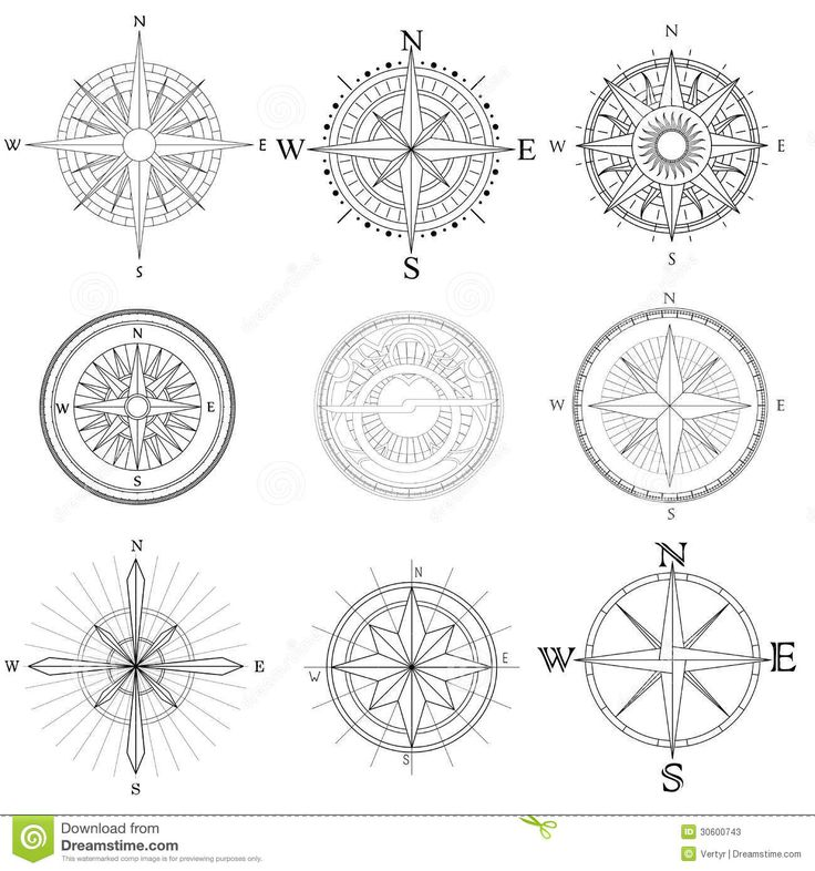 Drawn compass simple black Best 39 Compass Download Quality