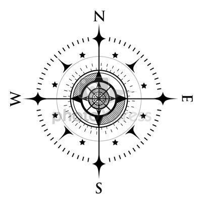 Drawn compass simple black On compass best images Pinterest