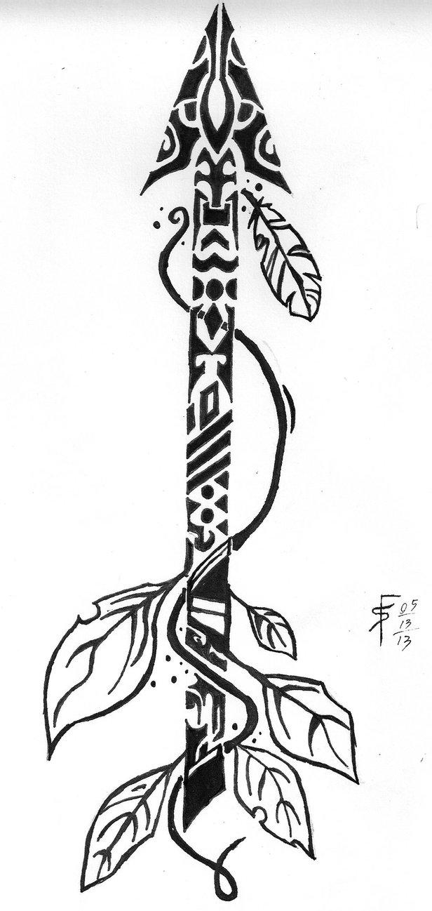 Drawn compass tribal Bucket by Arrow deviantART Tribal