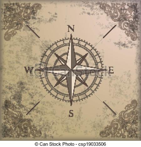 Drawn compass vintage  Adventure clipart Illustrations