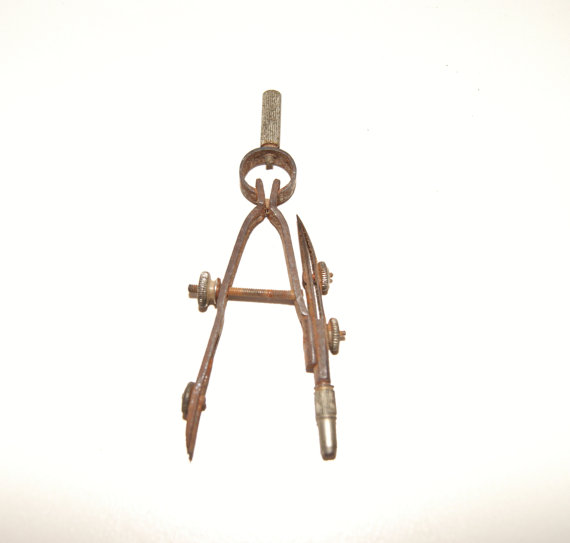 Drawn compass vintage Vintage by MYHIGHSTREETBOUTIQUE tool