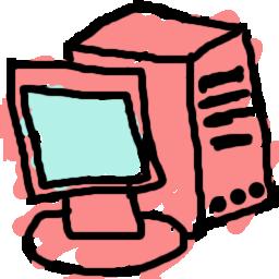 Drawn computer Pink Computer drawn Computer RocketDock
