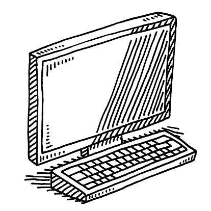 Drawn computer On ideas Best Keyboard Drawing