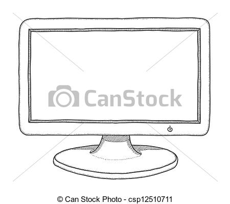 Drawn computer Hand of vector  csp12510711