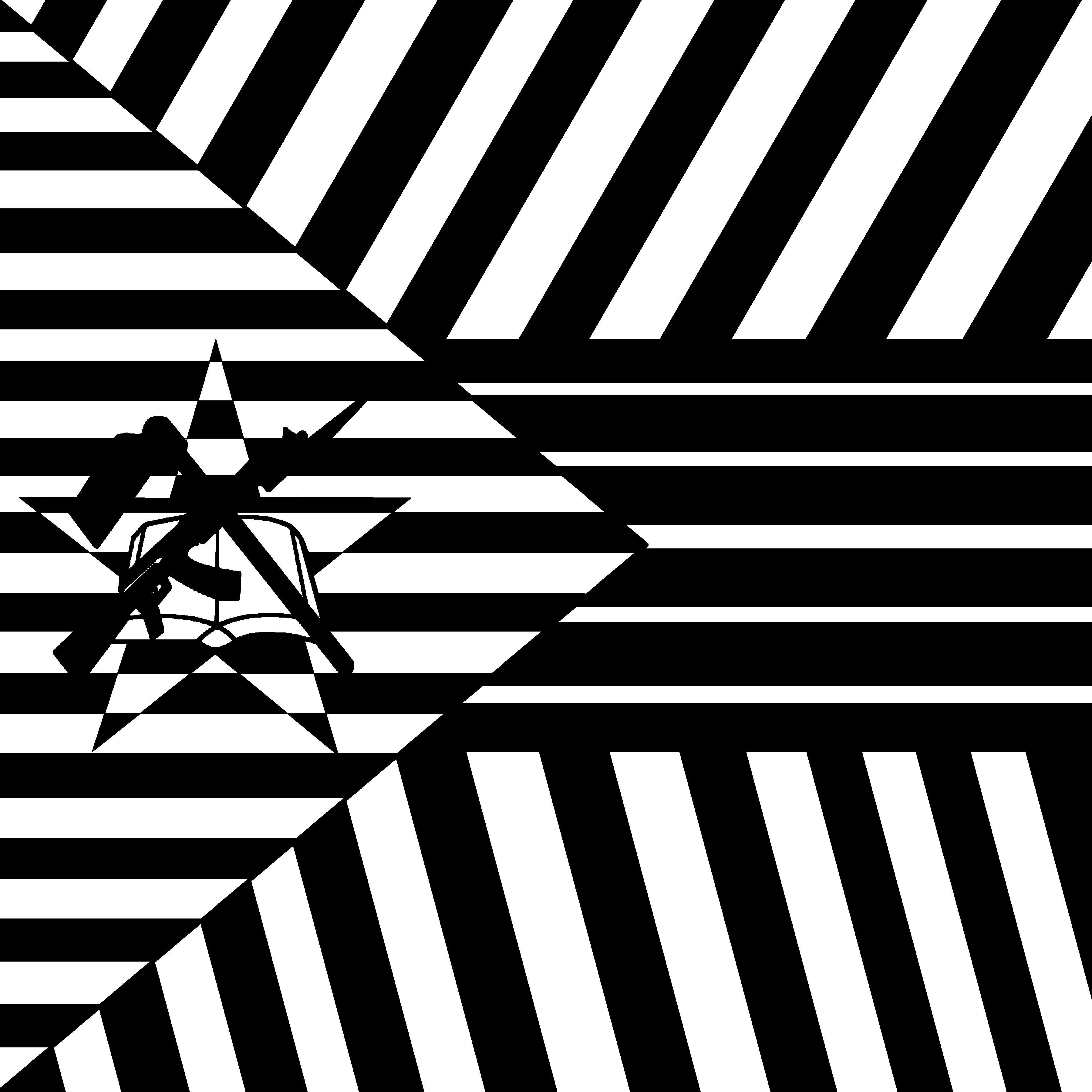 Drawn contrast White High art flag Contrast
