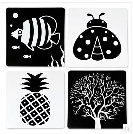Drawn contrast baby Pinterest early learning 18 card