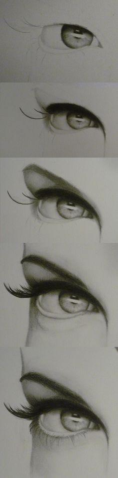 Drawn contrast red lipstick By on step eye deviantART