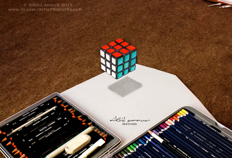 Drawn illusion pencil #12