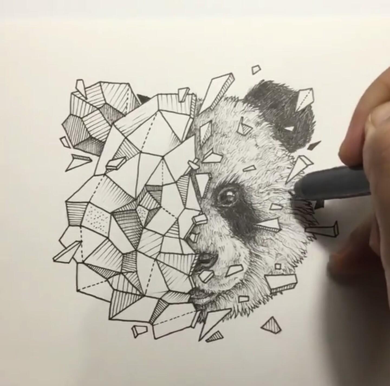 Drawn contrast red lipstick Geometric Pinterest Beasts … Beasts