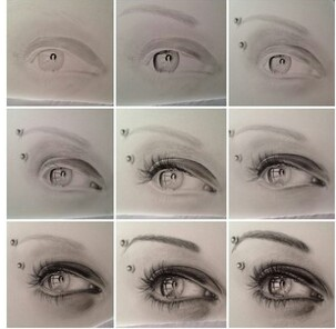 Drawn contrast perfect eye Perfect Art how step by