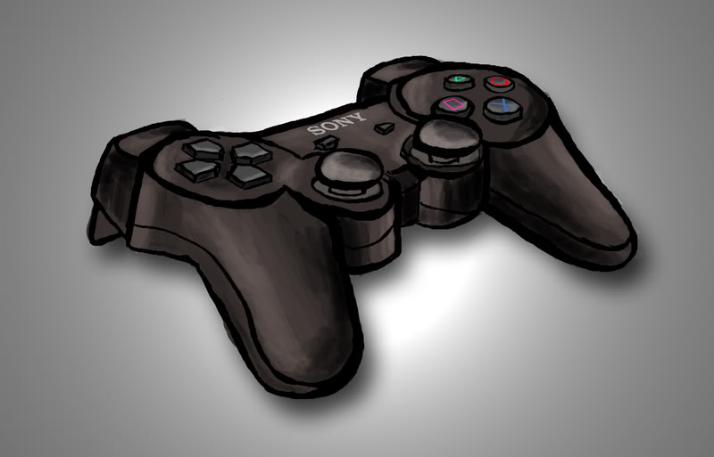 Drawn controller Controller  Drawing PS3 PhotoshopForums